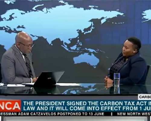 CEO on SABC News discussing Carbon Tax